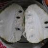 Annona Muricata cut in half - zuurzak